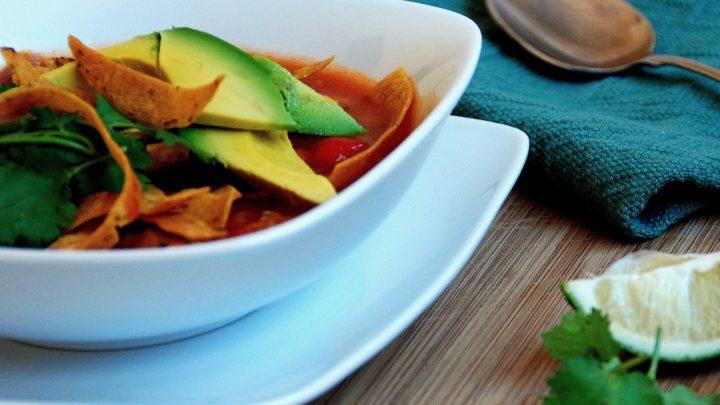 Grilled Veggie Chicken Tortilla Soup