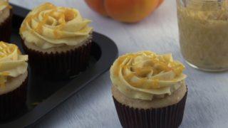 Apple Cider Cupcakes with Persimmon Swiss Meringue Buttercream