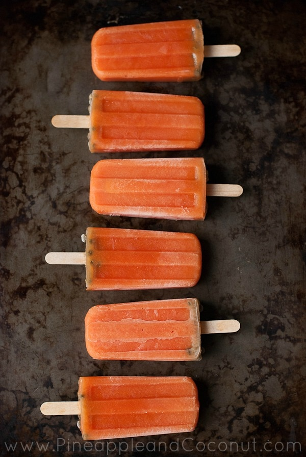 Papaya Popsicles