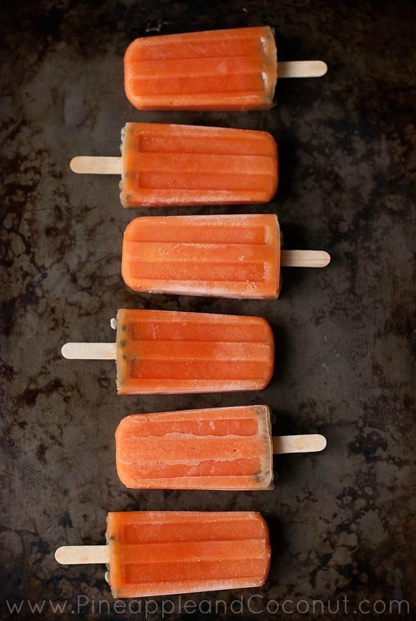 Papaya Popsicles