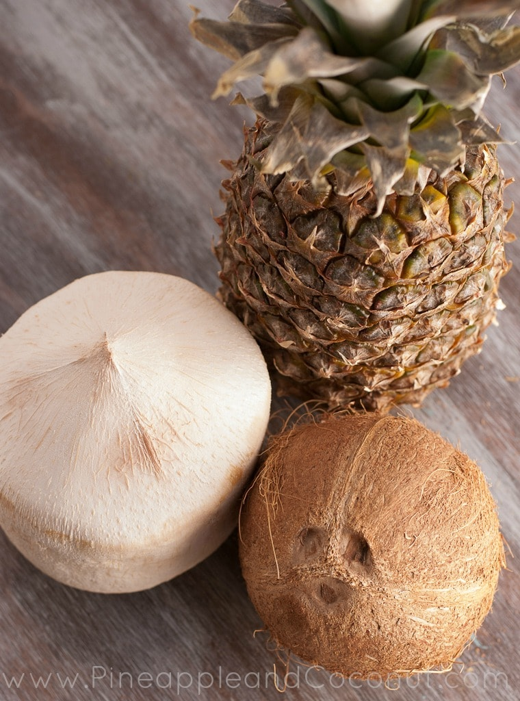 Pineapple and coconuts