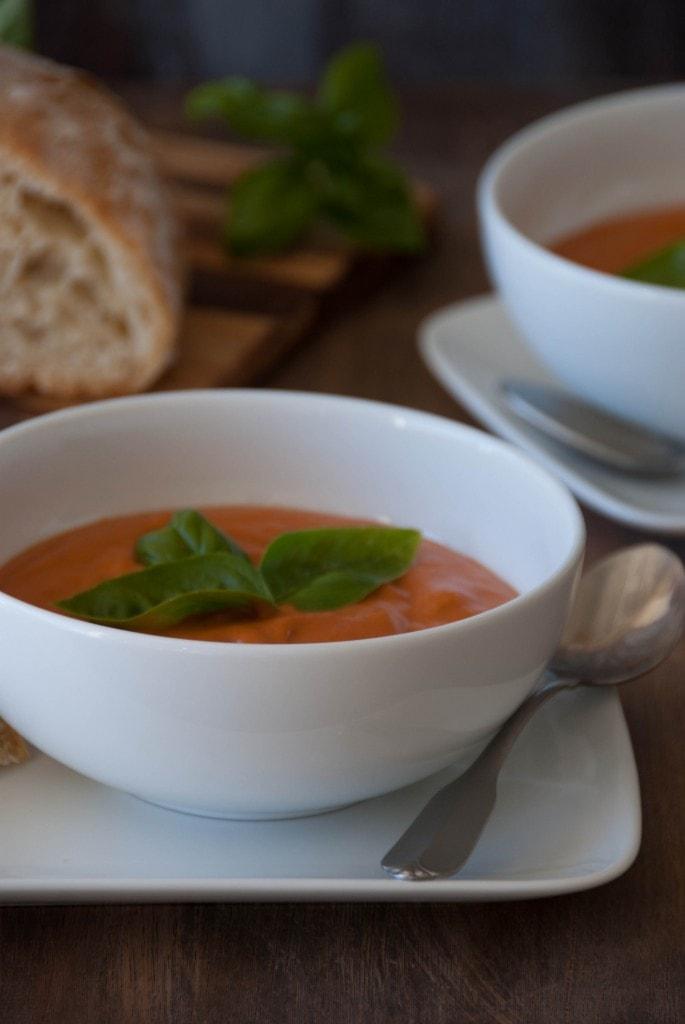 Creamy Tomato Coconut Soup 3 685x1024 Creamy Tomato Coconut Soup With Rustic Almost No Knead Bread