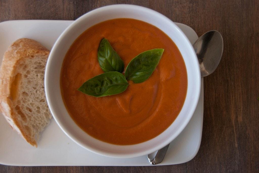 Creamy Tomato Coconut Soup 4 1024x685 Creamy Tomato Coconut Soup With Rustic Almost No Knead Bread