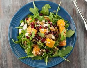 Butternut Squash Pomegranat Salad PineappleandCoconut.com
