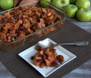Maple Sweet Potato And Apple Bake - PineappleandCoconut.com