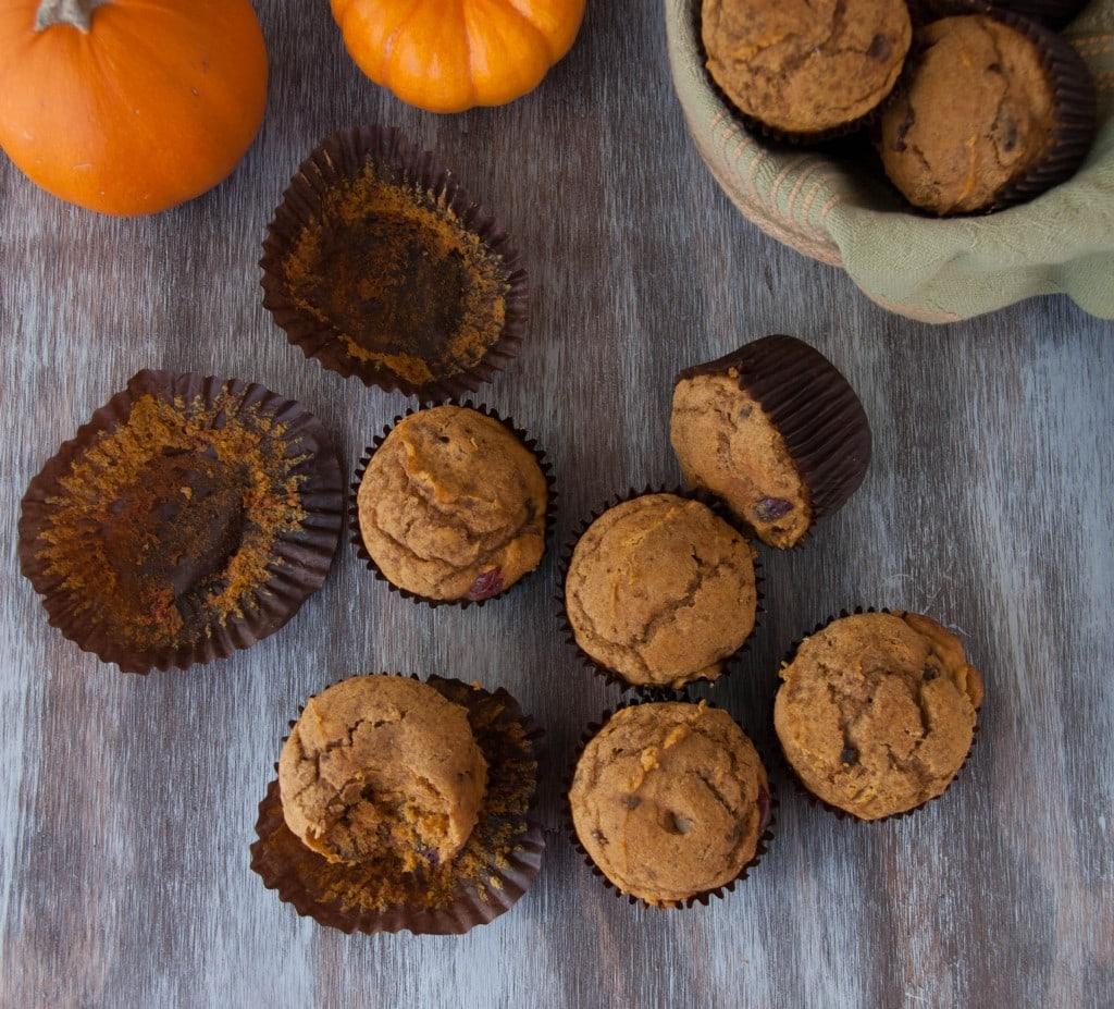 gluten free pumpkin muffins with cranberries pineappleandcoconut (6)