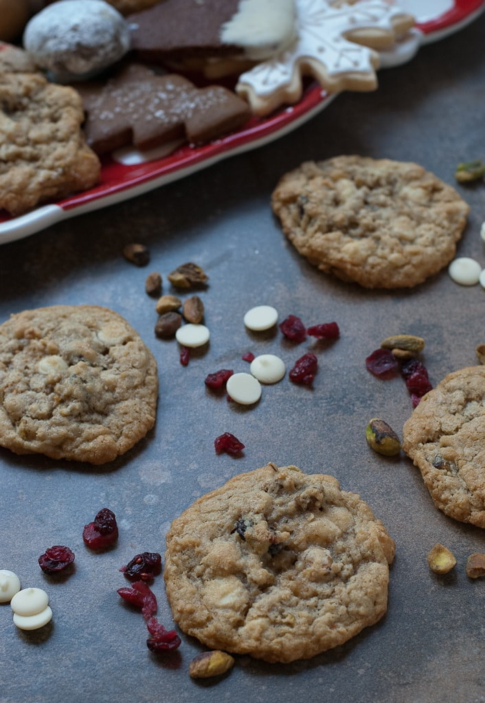 Cookies For Santa 2012 Oatmeal, Cranberry Pistachio White Chocolate Chip Cookies PineappleandCoconut (3)