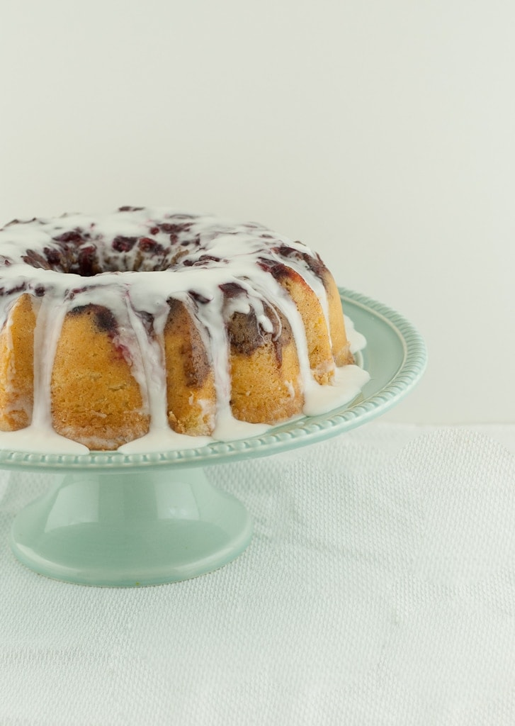 Cranberry Upside Down Streusel Bundt Cake PineappleandCoconut.com