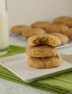 Gluten Free Pumpkin Snickerdoodle cookies PineappleandCoconut.com