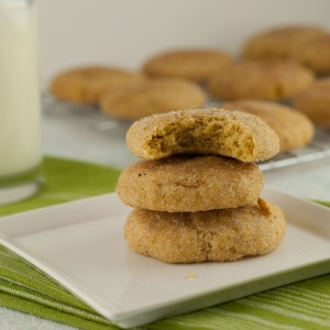 Gluten Free Pumpkin Snickerdoodle cookies PineappleandCoconut.com