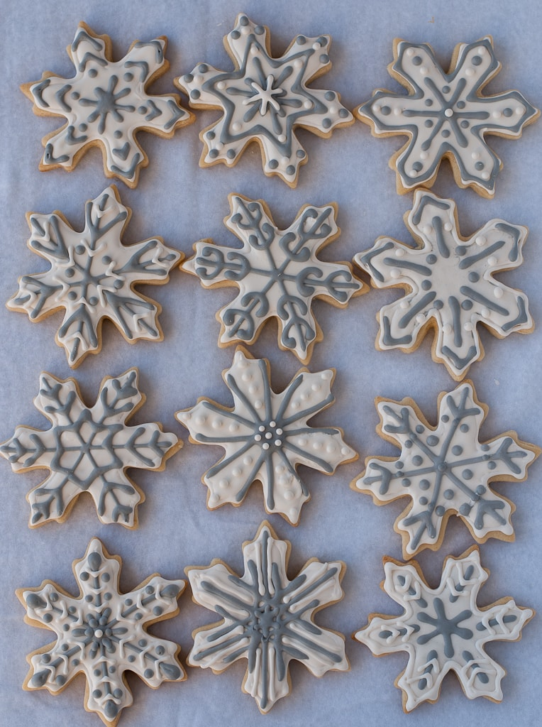 Snowflake Sugar cookies for #bloggersforsandyhook pineappleandcoconut (3)