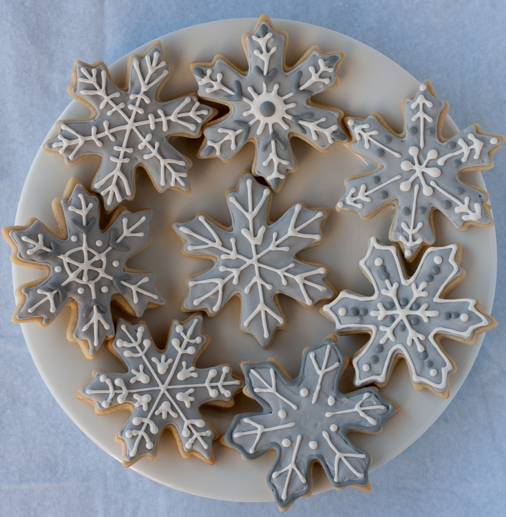 Snowflake Sugar cookies for #bloggersforsandyhook pineappleandcoconut (4)