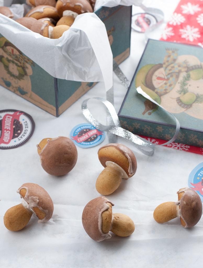 Spiced Mushroom Cookies Pineappleandcoconut.com