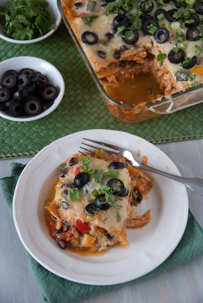 Lightened Up Roasted Veggie Mexican Lasagne Via Pineapple and Coconut (7)