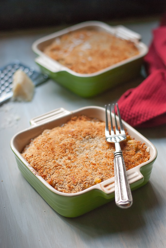 Panko Crusted Pumpkin and Goat Cheese Mac and Cheese Via Pineapple and Coconut