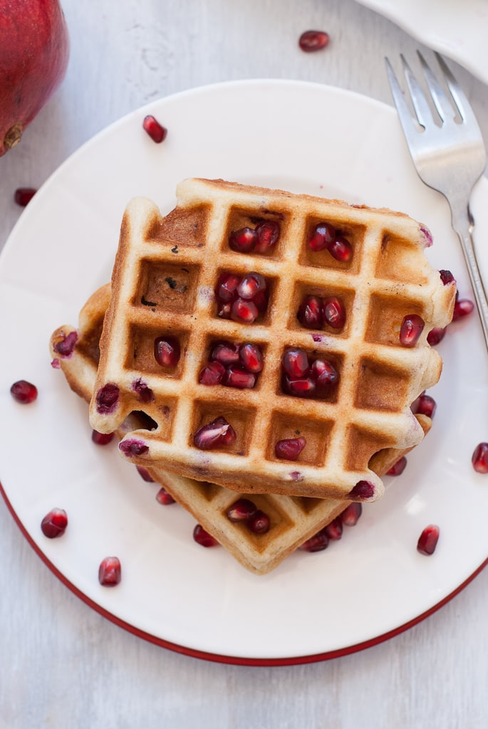 Pomegranate Waffles Gluten Free Via Pineapple And Coconut 9 Gluten Free Vanilla Pomegranate Waffles