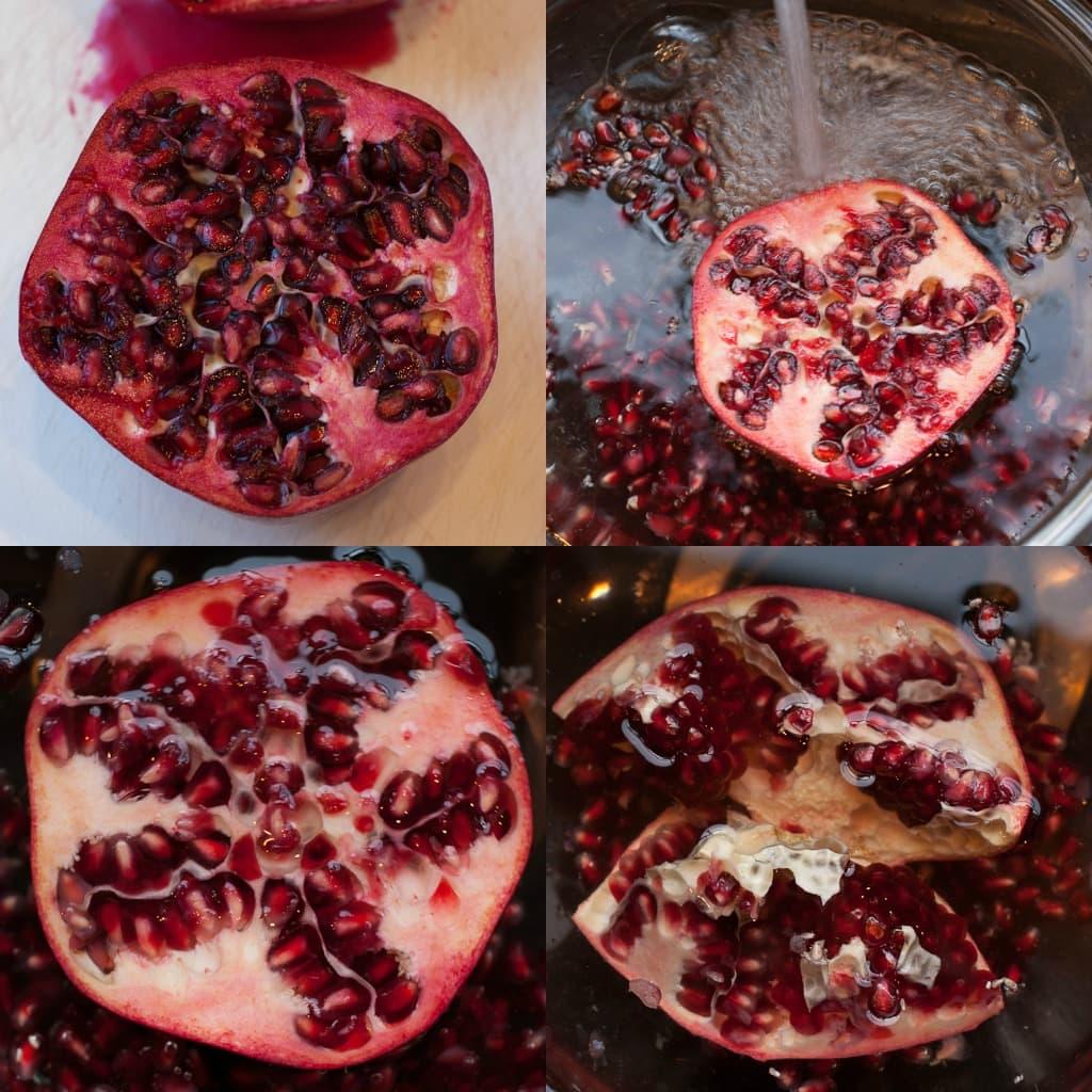 Gluten Free Vanilla Pomegranate Waffles Via PineappleandCoconut.com
