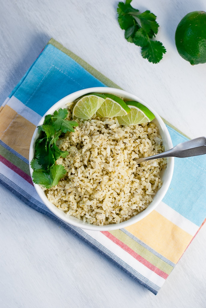 Cilantro Lime Rice Pineappleandcoconut.com