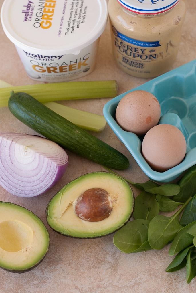 Avocado Egg Salad PineappleandCoconut.com