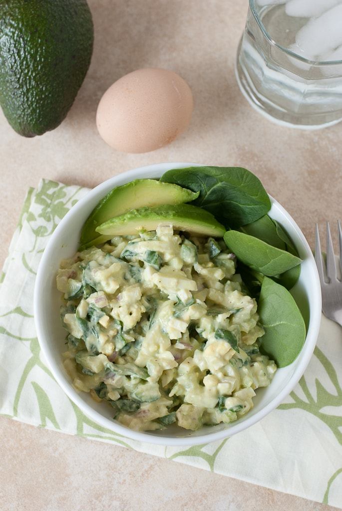 Avocado Egg Salad PineappleandCoconut.com