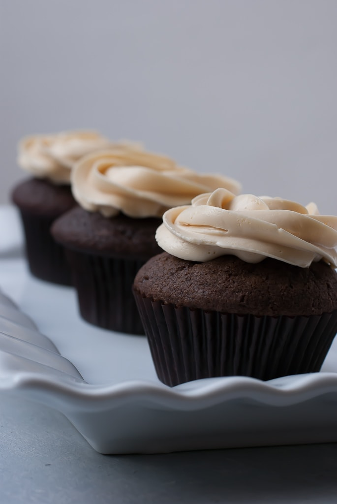 Dark Chocolate Cupcakes With Salted Caramel Buttercream PineappleandCoconut 10 Dark Chocolate Cupcakes with Salted Caramel Buttercream