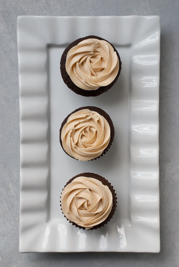 Dark Chocolate Cupcakes With Salted Caramel Buttercream PineappleandCoconut 7 Dark Chocolate Cupcakes with Salted Caramel Buttercream