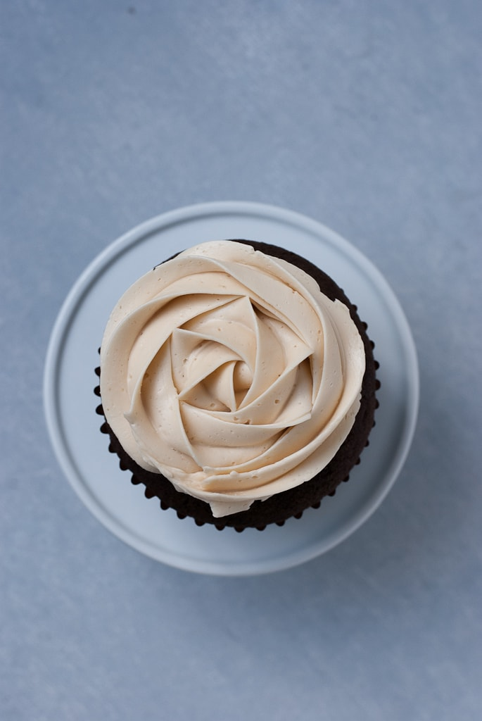 Dark Chocolate Cupcakes With Salted Caramel Buttercream PineappleandCoconut 8 Dark Chocolate Cupcakes with Salted Caramel Buttercream