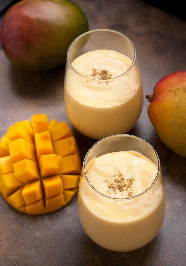 Indian Mango Lassi Drink PineappleandCoconut.com