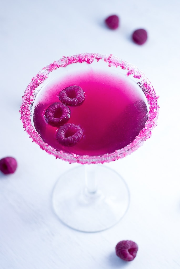 Very Pink Raspberry Cosmopolitan PineappleandCoconut.com