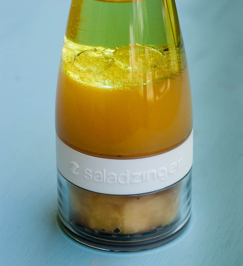 Grilled Shrimp Salad With Pina Colada Vinaigrette PineappleandCoconut.com #saladzinger #sweetrelish #zinganything (5)