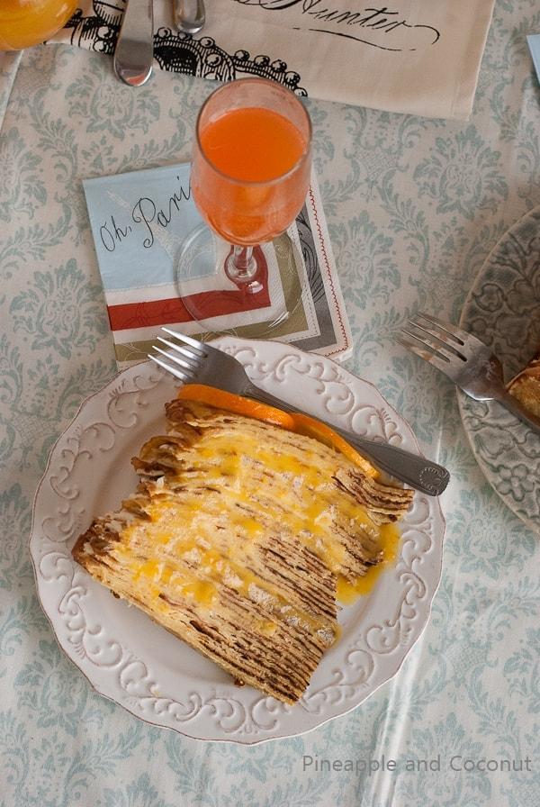Crepe Suzette Crepe Cake (1)