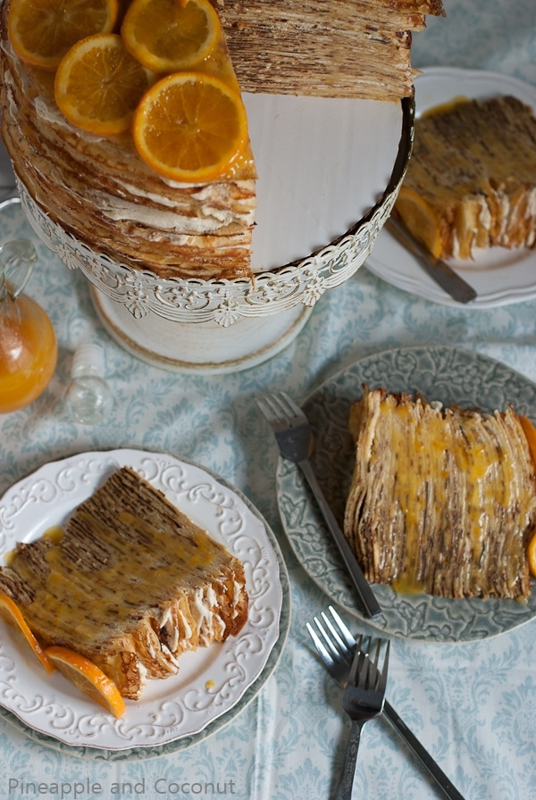 Crepe Suzette Crepe Cake #SummerInParis | Pineappleandcoconut.com