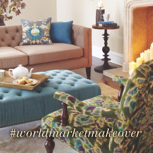 world market makeover Virtual Room Makeover with World Market #WorldMarketMakeover