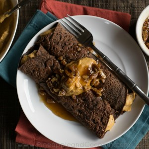 Chocolate Crepes with Spiced Pumpkin Butter and Maple Pecan Syrup www ...