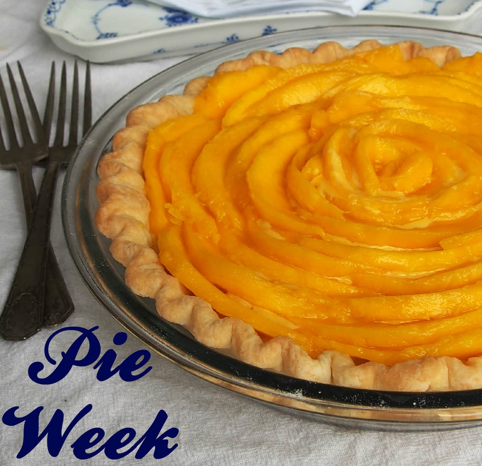Persimmon Pear Brandy Pie with Vanilla Bean Crumble #PieWeek