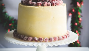 Christmas White Chocolate Cranberry Cake www.pineappleandcoconut.com #holidayfoodparty (3)