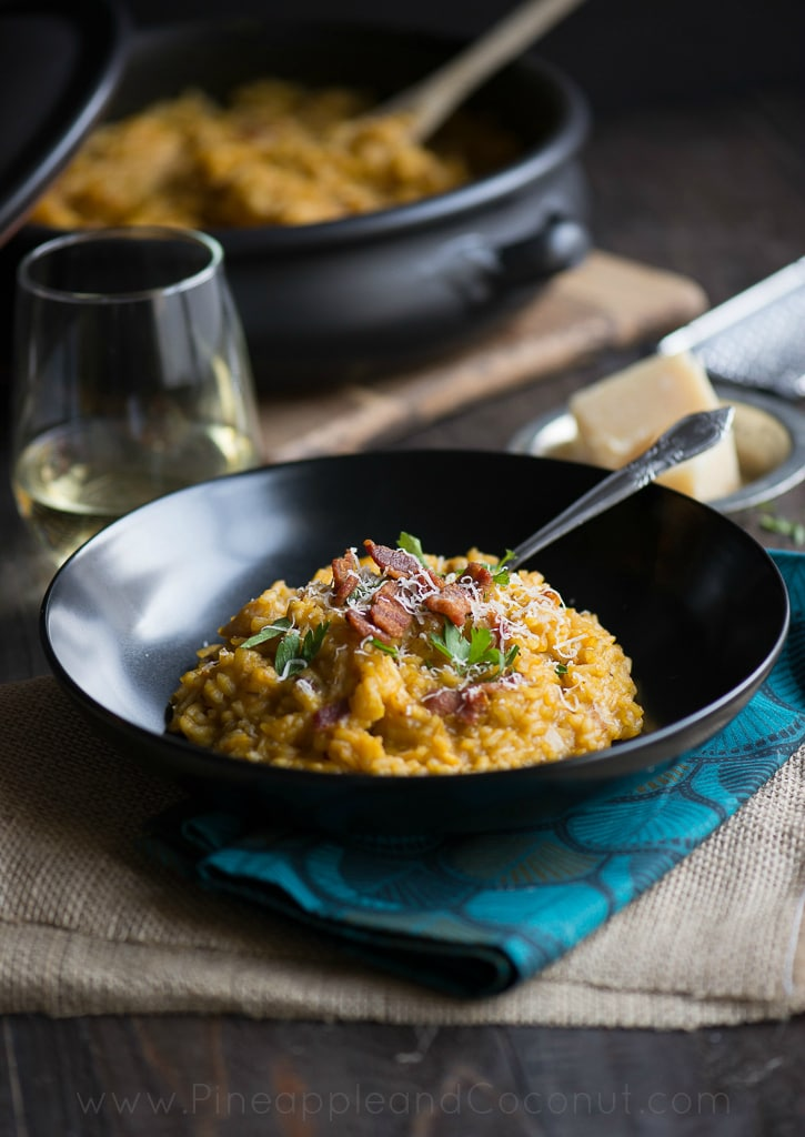 Creamy Maple Bacon Pumpkin Risotto #Pumpkinweek www.pineappleandcoconut (6)