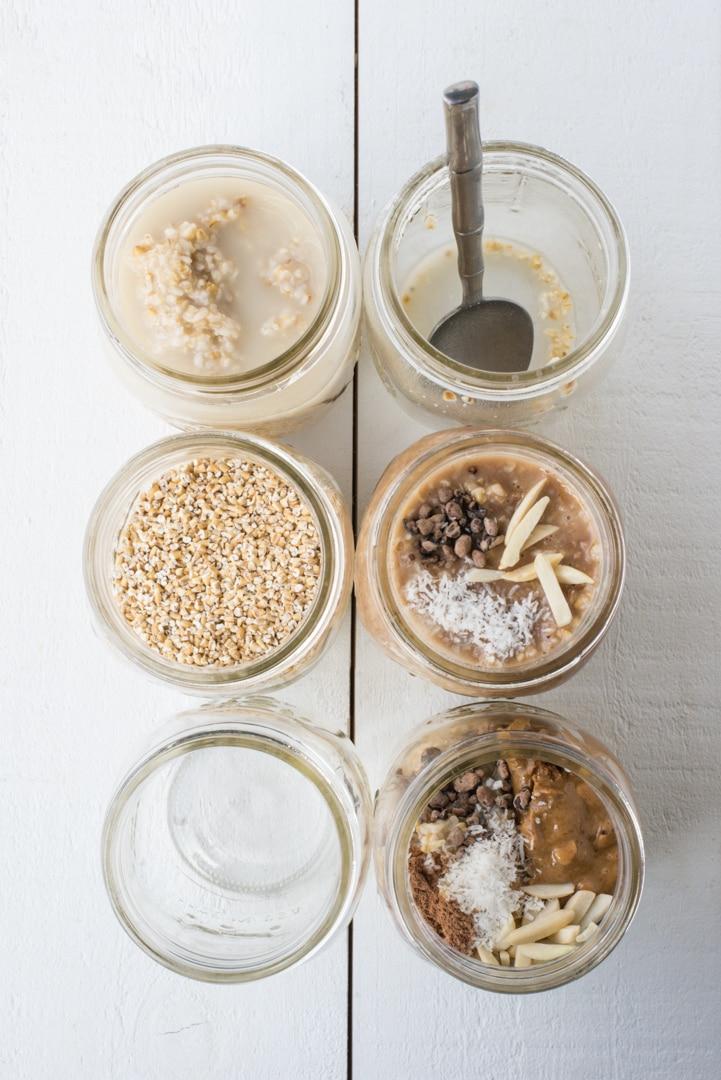 ... overnight oats overnight steel cut oats with almond butter honey