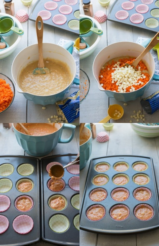 carrot cupcake collage 2