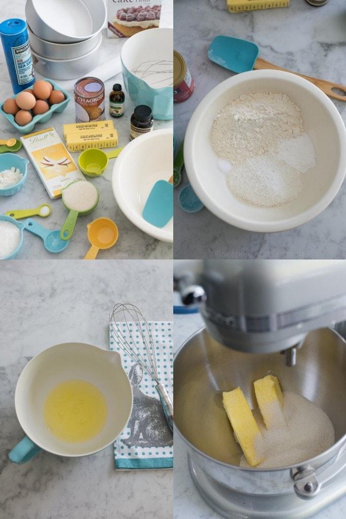 Easter Coconut Lemon Layer Cake