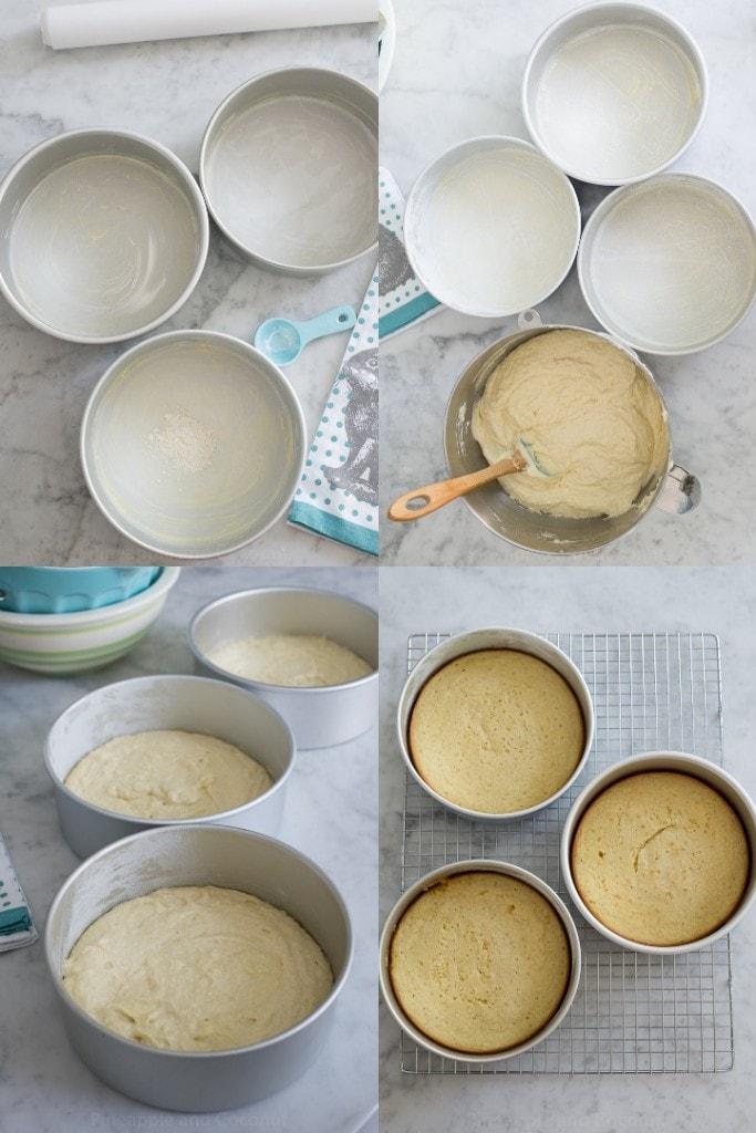 coconut cake collage 3
