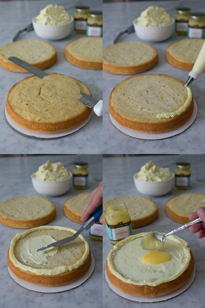 coconut cake collage 4