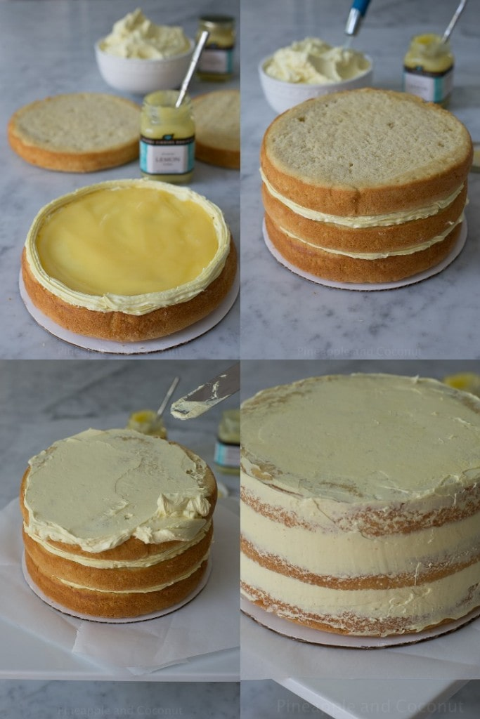 coconut cake collage 5