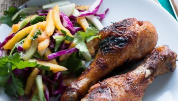 Jamaican Jerk Chicken with Pineapple Mango Slaw-7997