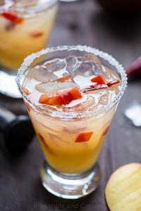 Spicy Chili Pepper Mango Margarita www.pineappleandcoconut.com
