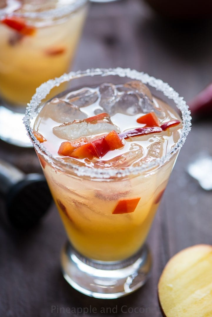 Spicy Chili Pepper Mango Margarita www.pineappleandcoconut.com