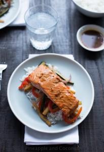 Orange Sesame Grilled Salmon #ManMadeFood