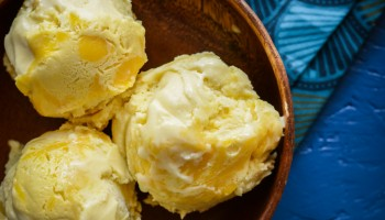 Coconut Ice Cream with Pineapple Curd Swirl-659