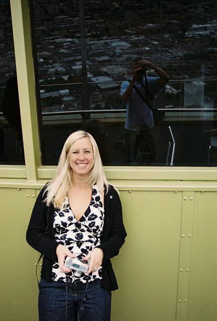 Shanna at Space needle I am going to Seattle! #IFBC