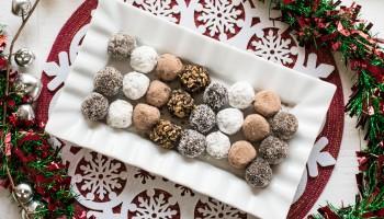 4 ingredient chocolate rum balls-294